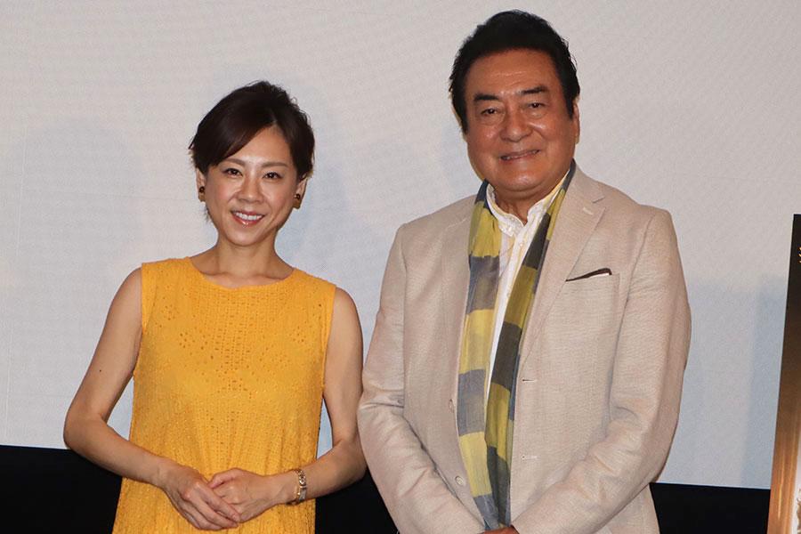 映画「ファーザー」の公開記念イベントに出席した高橋真麻(左)と高橋英樹【写真:ENCOUNT編集部】