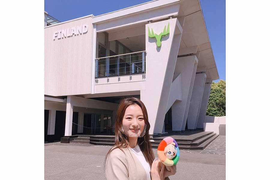 初リポートに挑戦した神谷明采さん【写真:(C)TOKYO MX】