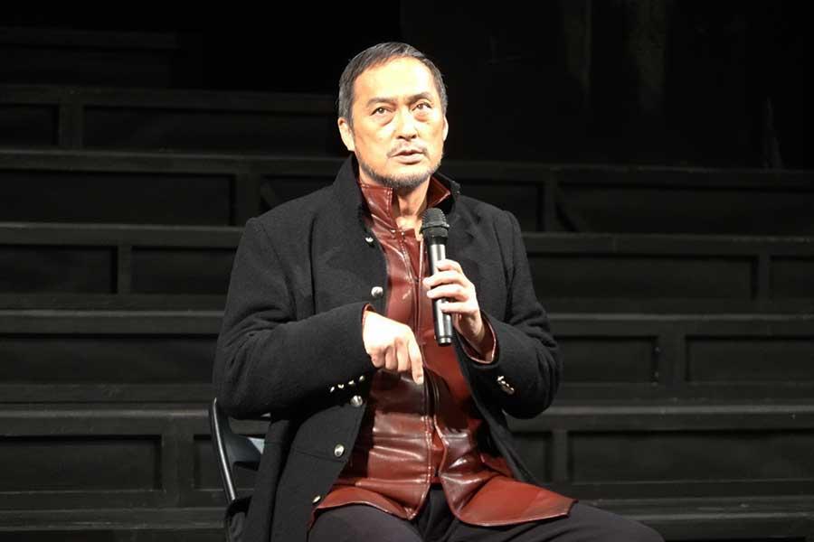 「ピサロ」初日前会見に出席した渡辺謙【写真:ENCOUNT編集部】