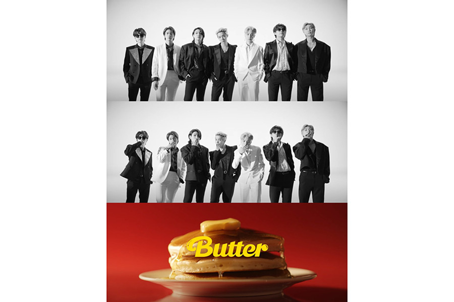 BTS、新曲「Butter」のMVティーザー公開 モノクロスーツ姿で強烈なビート