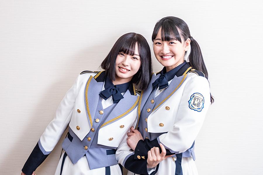 「STU48」のドラフト3期生・沖侑果(左)と信濃宙花【写真:山口正人】