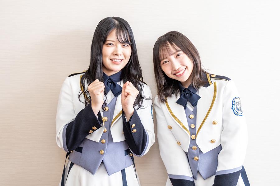 「STU48」矢野帆夏(左)と薮下楓【写真:山口正人】