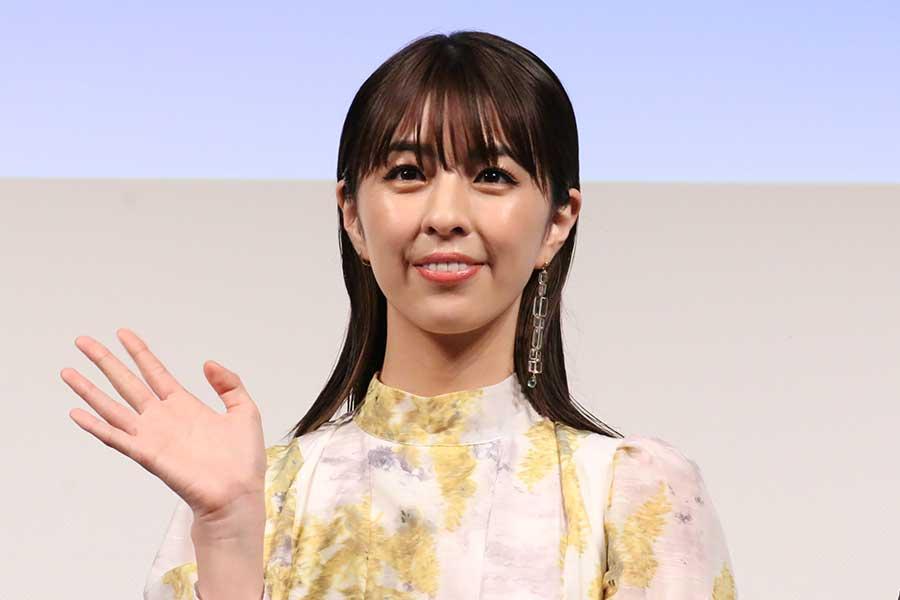 映画「ブルーヘブンを君に」公開直前イベントに出席した柳ゆり菜【写真:ENCOUNT編集部】