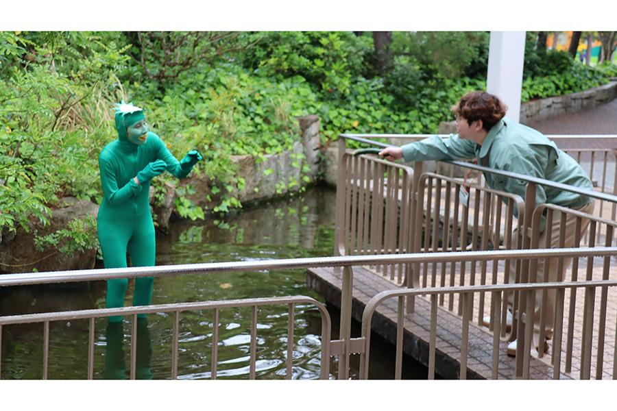 「有吉の壁」初登場のハリセンボンはかっぱと人間のドラマを披露【写真:(C)日本テレビ】