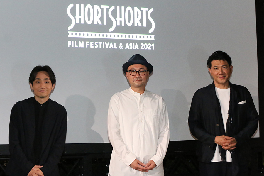 左から水野良樹、内田英治監督、別所哲也【写真:ENCOUNT編集部】