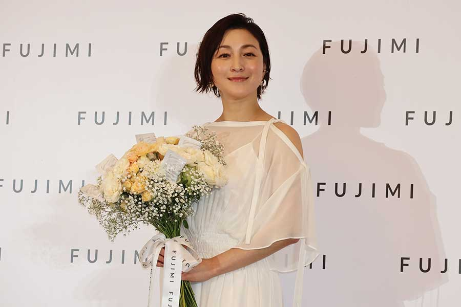 「FUJIMI」のアンバサダー就任式に出席した広末涼子【写真:ENCOUNT編集部】
