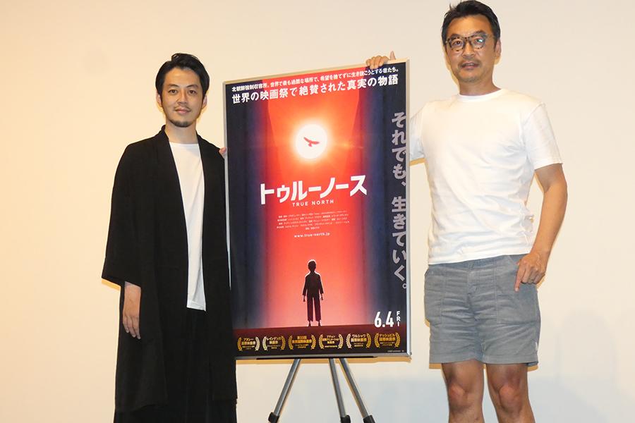 西野亮廣(左)と清水ハン栄治監督【写真:ENCOUNT編集部】