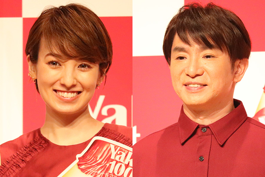 南明奈(左)と濱口優夫妻【写真:ENCOUNT編集部】