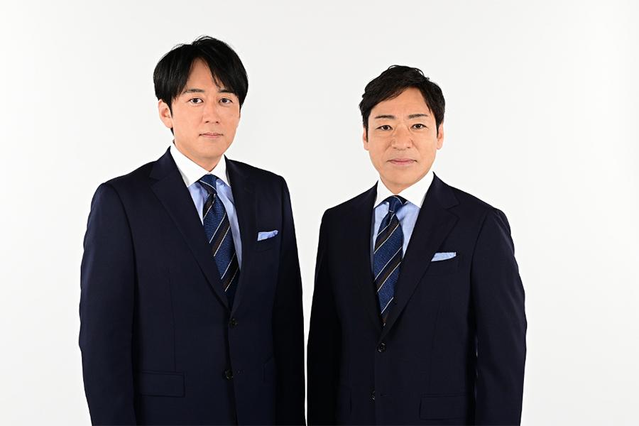 安住紳一郎アナウンサー(左)と香川照之【写真:(C)TBS】