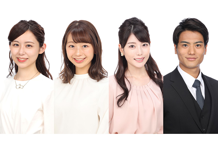 フジ新人アナ4人、地上波報道番組初挑戦 「Live News イット!」に7月から登場決定