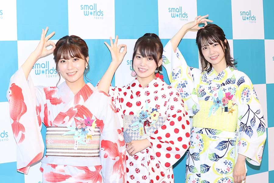 AKB48・チーム8の3人娘が浴衣姿で登場 七夕の願いで地元愛をアピール