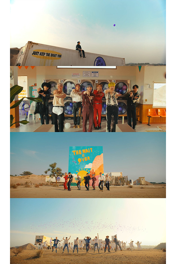 BTSの新曲「Permission to Dance」には国際手話や紫色の風船が登場【写真:(C)BIGHIT MUSIC】
