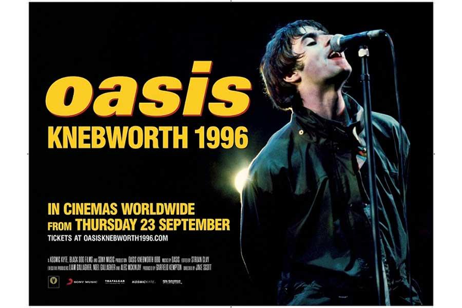 「oasis KNEBWORTH 1996」のポスターアート