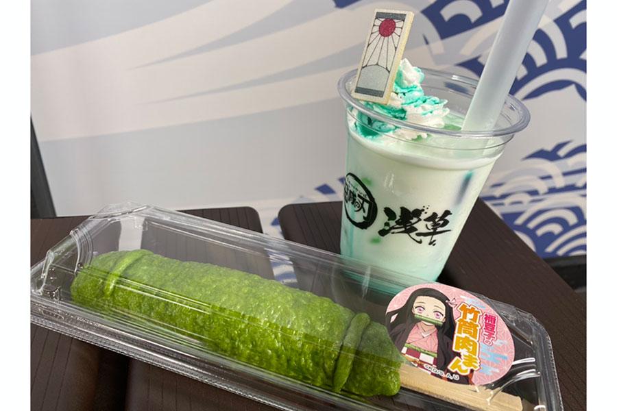 炭治郎カラーはメロンミルクで表現されている(奥)【写真:ENCOUNT編集部】