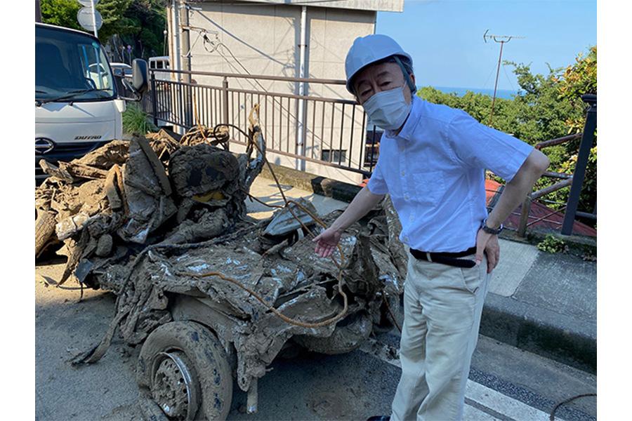池上彰氏、熱海市の土石流災害現場を緊急取材「大雨が降れば何が起こるか分からない」