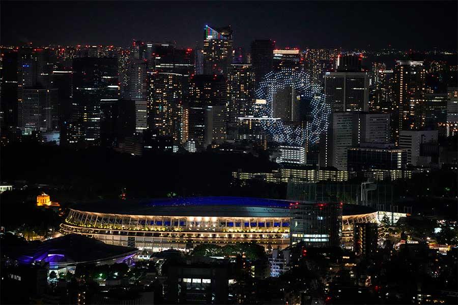 五輪開会式、夜空を彩るドローン 光り輝く地球に称賛の声「日本の技術は底知れない」