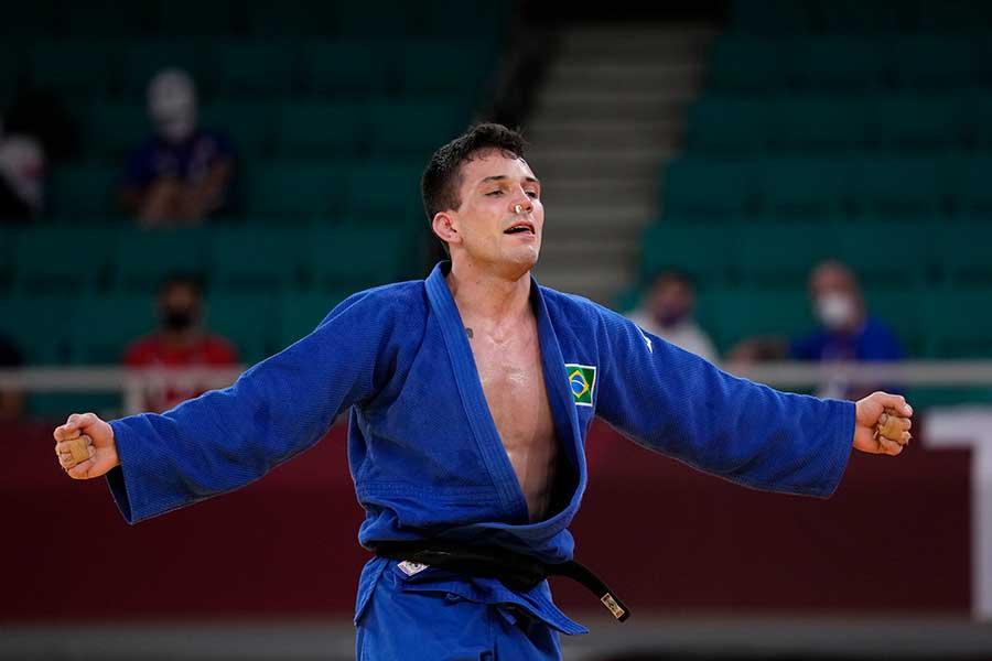 東京五輪・柔道男子66キロ級で銅メダルを獲得したダニエル・カルグニン【写真:AP】
