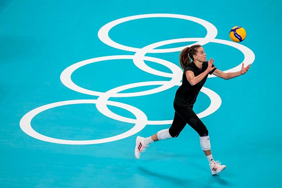 東京五輪・女子バレーボールアメリカ代表ケルシー・ロビンソン【写真:AP】