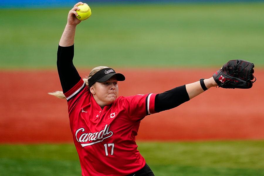 女子ソフトボールカナダ代表のサラ・グロンウェゲン【写真:AP】