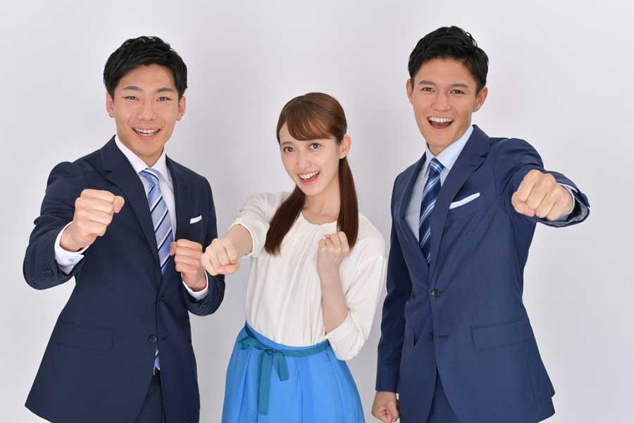 TBS新人アナウンサーの(左から)小沢光葵・佐々木舞音・高柳光希【写真:(C)TBS】