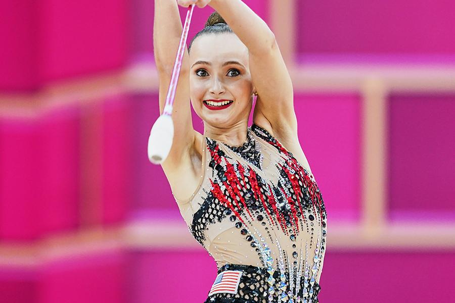 東京五輪・新体操の米国代表カミーラ・フィーリー【写真:Getty Images】
