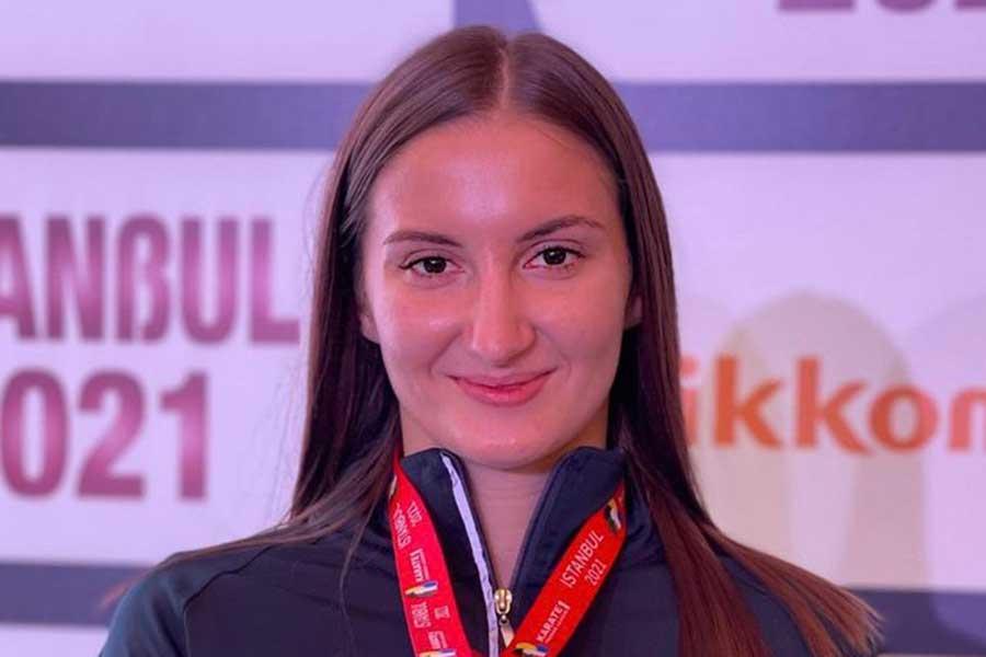 東京五輪・空手女子組手61キロ超級アゼルバイジャン代表のイリーナ・ザレツカ【写真:インスタグラム(@irinazaretska_)より】
