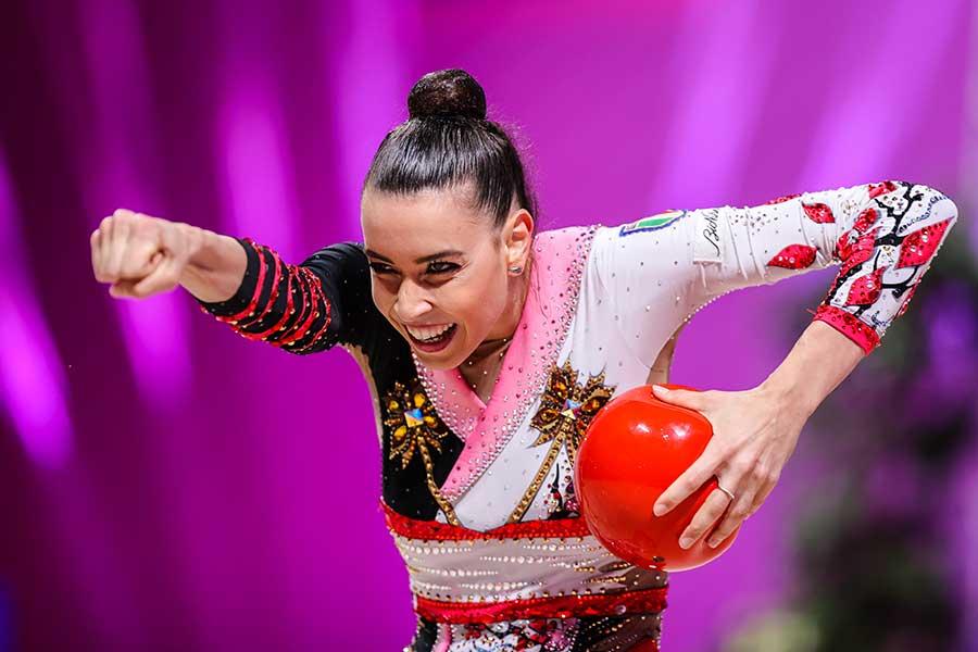 東京五輪・新体操女子団体イタリア代表のアレシア・マウレッリ【写真:Getty Images】