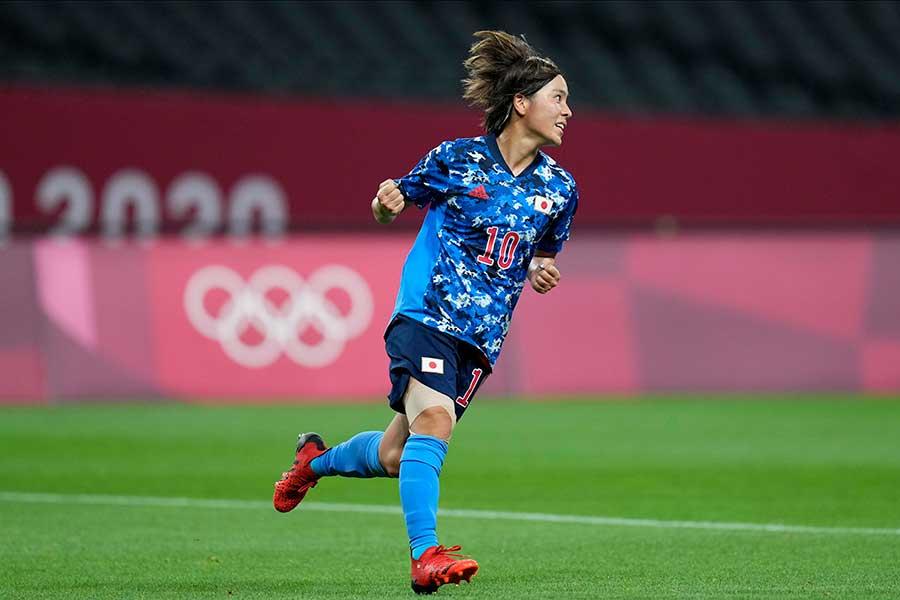 東京五輪・女子サッカー日本代表(なでしこジャパン)の岩渕真奈【写真:AP】