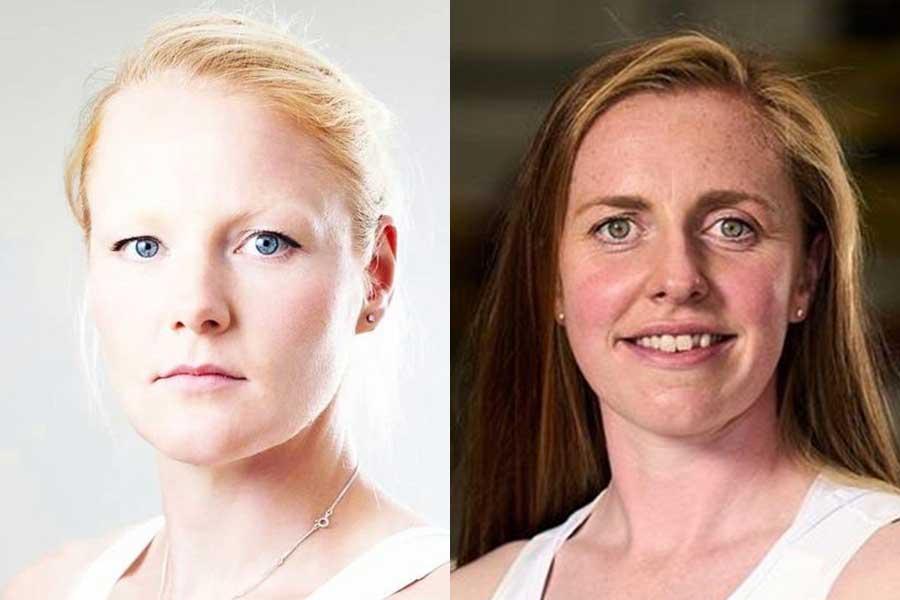 東京五輪・女子ボートのイギリス代表ポリー・スワン(左)とレベッカ・エドワーズ【写真:インスタグラム(@pollyswanngb)、(@redwards13)より】
