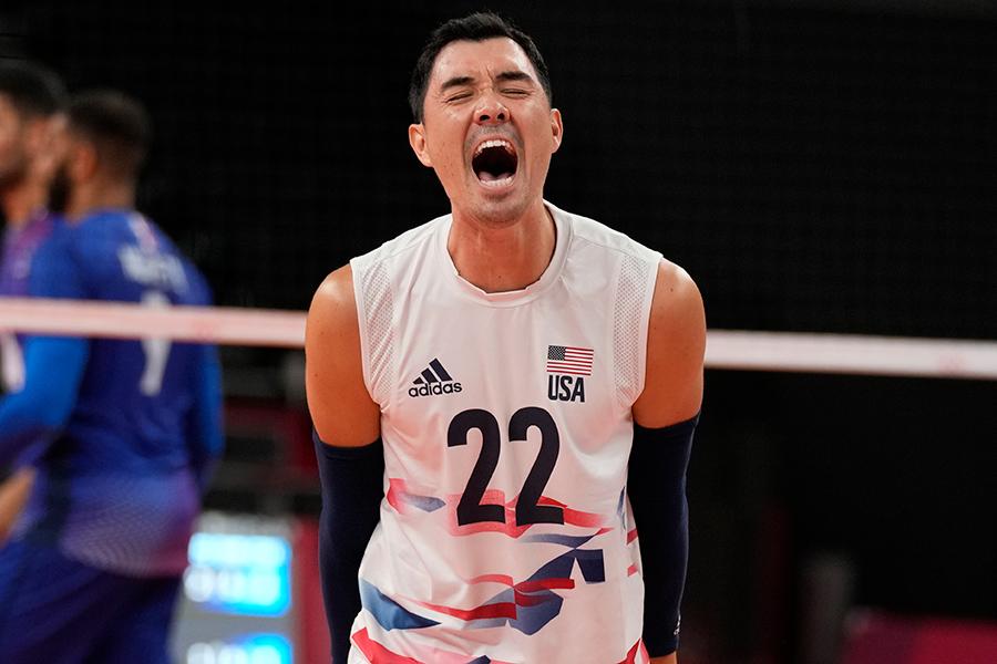 東京五輪・男子バレーボールの米国代表エリック・ショージ【写真:AP】