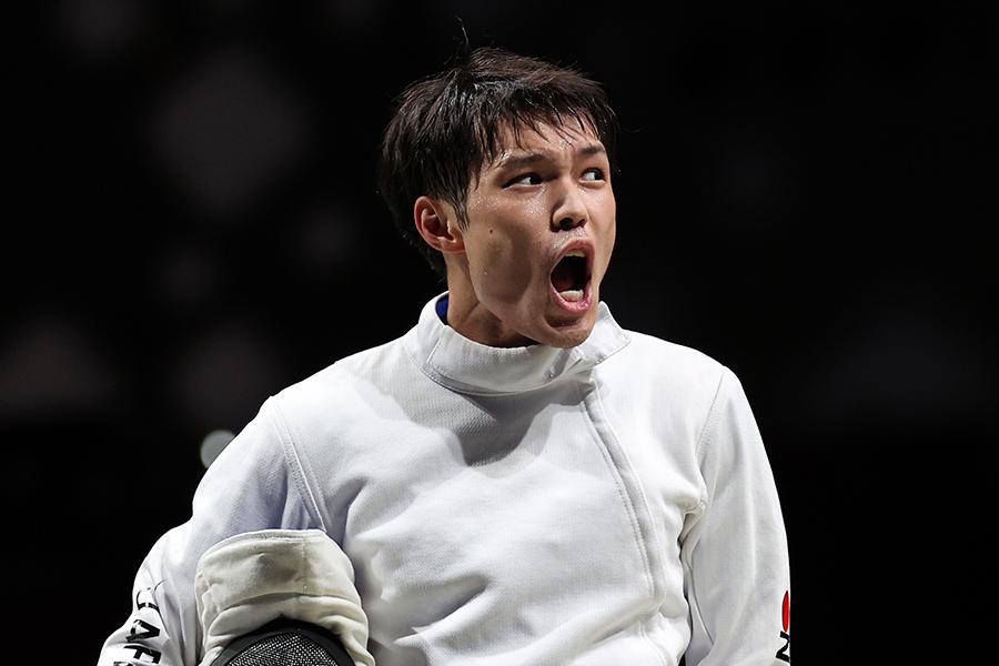 東京五輪・フェンシングの男子エペ団体日本代表の山田優【写真:Getty Images】