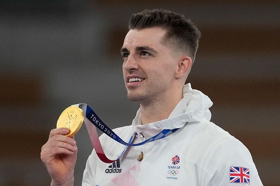 金メダルを獲得したマックス・ウィットロック【写真:AP】