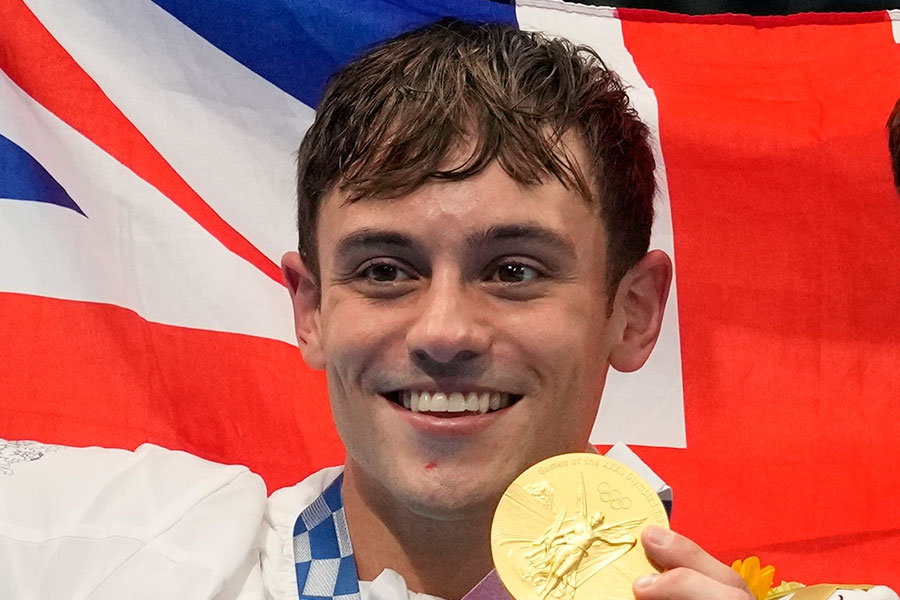東京五輪・飛び込み男子で金メダルを獲得した英国代表のトム・デイリー【写真:AP】