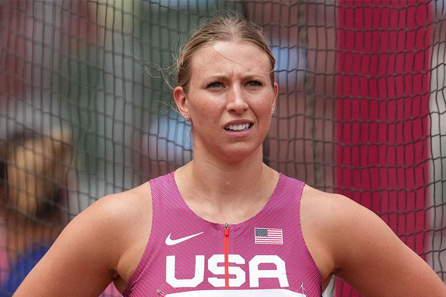 陸上女子円盤投げの米国代表のレーチェル・ディンコフ【写真:AP】