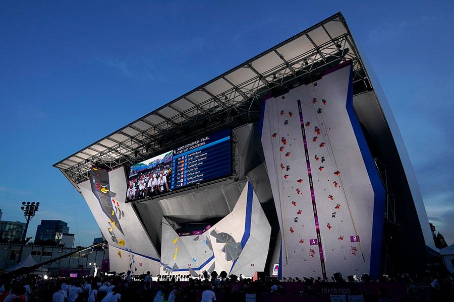 東京五輪スポーツクライミング会場【写真:AP】