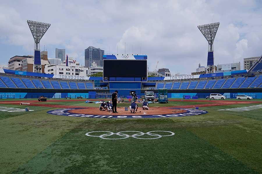 東京五輪・ソフトボール競技会場の横浜スタジアム【写真:AP】