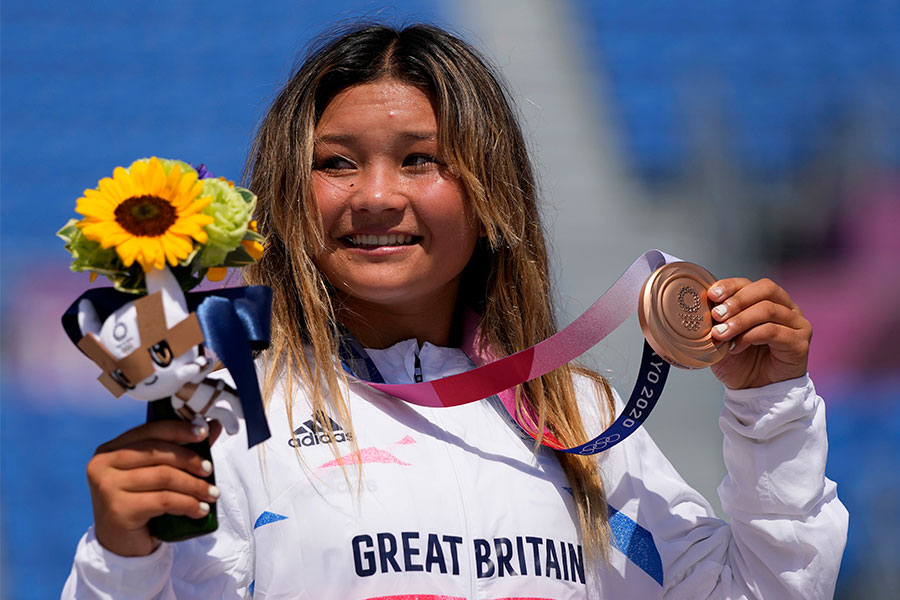 銅メダルを獲得した英国代表のスカイ・ブラウン【写真:AP】