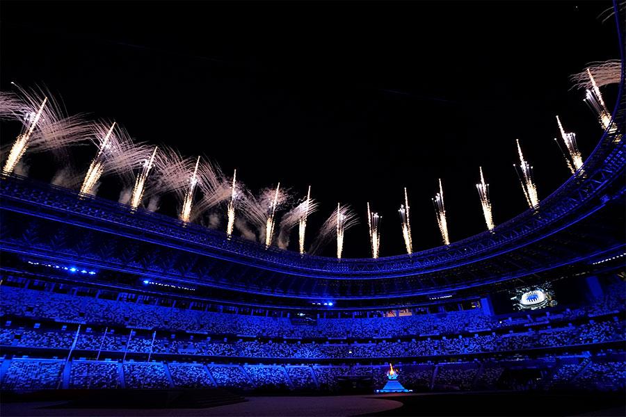 東京五輪の閉会式が行われた【写真:AP】