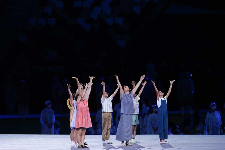 東京五輪の閉会式に登場した大竹しのぶ【写真:Getty Images】