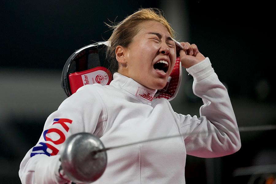 東京五輪・近代五種女子の韓国代表キム・セヒ【写真:AP】