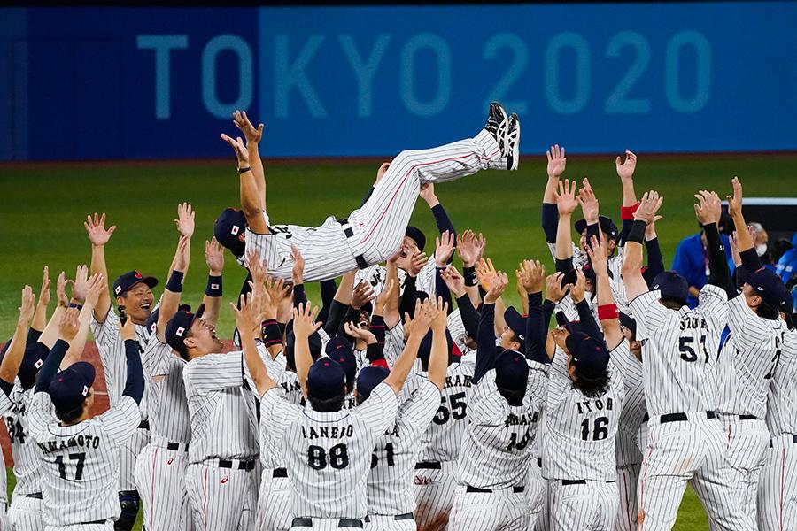 侍ジャパンの金メダルに瞬間最高視聴率44.2%【写真:AP】