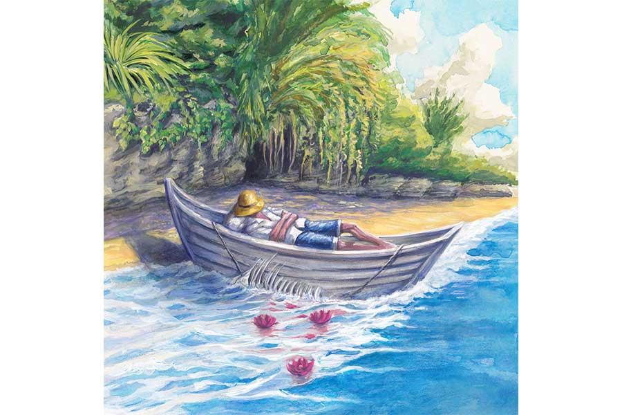 ヨルシカの「老人と海」ジャケット写真