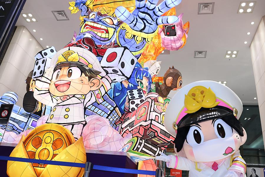 「桃鉄」が大丸東京店とコラボ! 5mの巨大な立佞武多「皆さんに見ていただきたい」