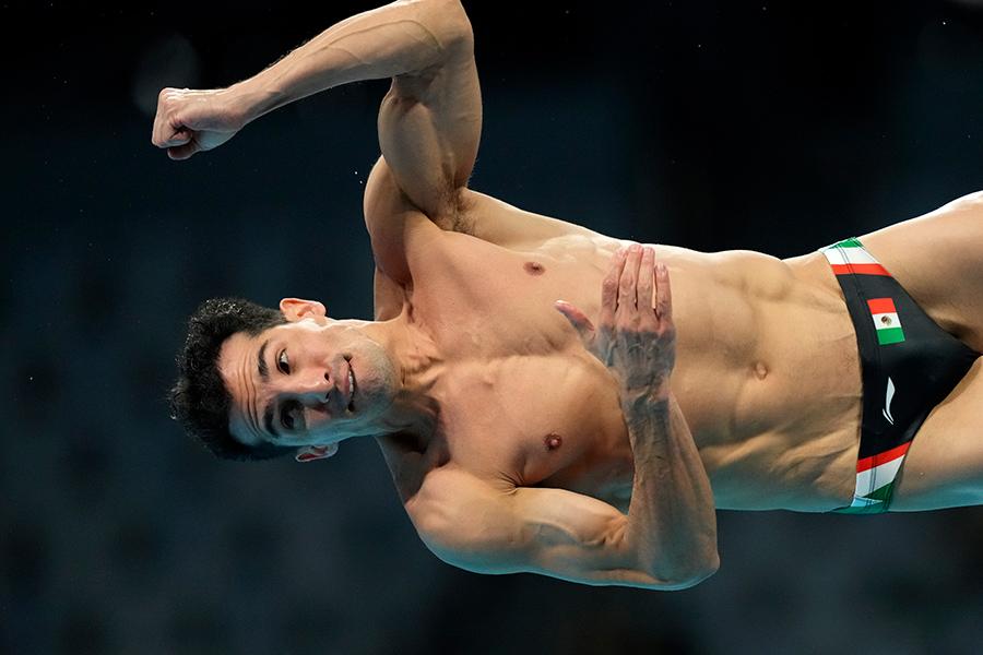 東京五輪・男子飛び込みのメキシコ代表ロメル・パチェコ【写真:AP】