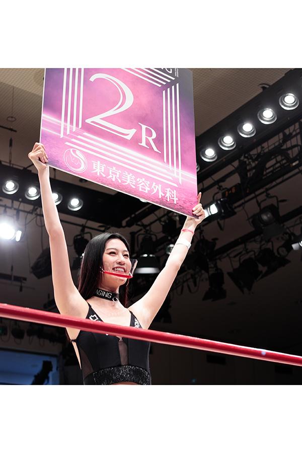 シュートボクシングのリングを彩るSHOOT Girlsの晶羅(あきら)ちゃん【写真:ENCOUNT編集部】