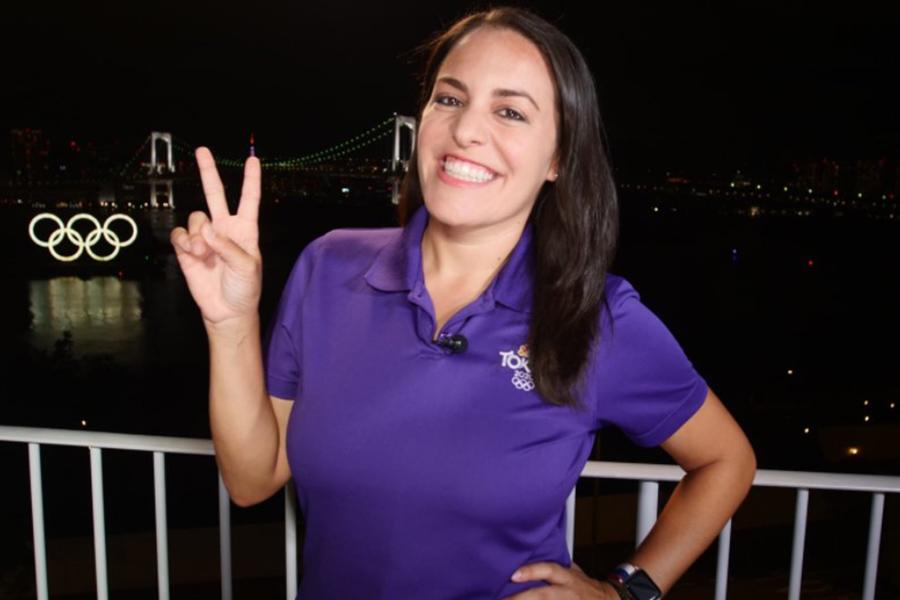 「NBC6 サウス・フロリダ」のアマンダ・プラセンシア記者【写真:ツイッター(@AmandaNBC6)より】