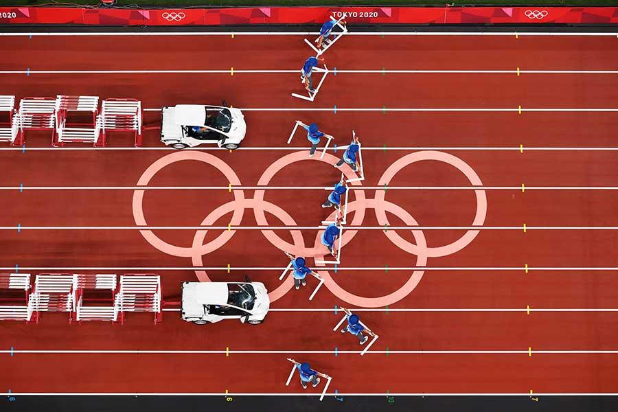 金メダリストを救った東京五輪スタッフに称賛がやまない【写真:Getty Images】