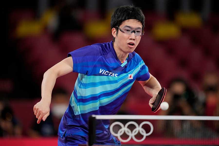 東京五輪・卓球男子日本代表の水谷隼【写真:AP】