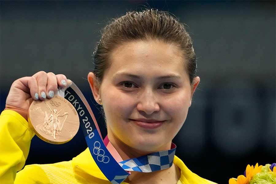 銅メダルを獲得したオーストラリア代表のメリッサ・ウー【写真:AP】
