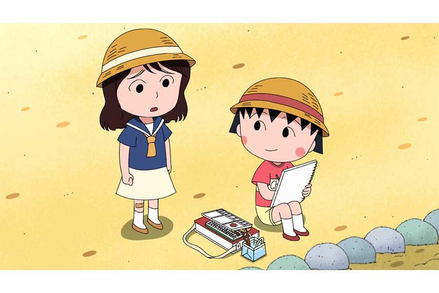 上白石萌音が「ちびまる子ちゃん」にゲスト出演。まる子との場面カット【写真:(C)さくらプロダクション/日本アニメーション】